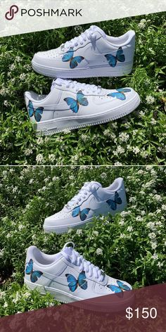 ec54a4a456245e Custom Butterfly Air Force 1 🦋 Custom Butterfly Air Force 🦋✨ - I Can Do  All Sizes - Takes Up To Weeks To Ship Nike Shoes Sneakers