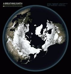 Wanna See the Earth Breathe for Real? Watch This Stunning GIF. Images laced together from NASA's Visible Earth show the cycling seasons of our planet reduced to just a few seconds of ceaseless movement. Cosmos, Earth Science, Science And Nature, Our Planet, Planet Earth, Science Images, Nasa Images, Science Videos, Sistema Solar