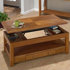 Lowest price online on all Jofran 480 Series Wood Lift-Top Cocktail / Coffee Table in Oak - 480-1