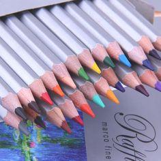 Marco 24 36 48 72 Colored Pencil Painting Set Lapis De Cor Non-toxic Lead-free Oily Color Pencils Writing Pen Office School
