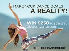 Win $250 to Spend at Discount Dance Supply!  http://woobox.com/jxni6o/d9vvp1