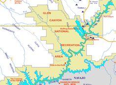 Area Map Of Lake Powell & Page, Arizona | ARIZONA | Pinterest | Lake ...