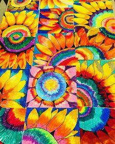 New flowers drawing sunflower art lessons ideas Collaborative Art Projects, Classroom Art Projects, School Art Projects, Preschool Projects, Art School, Fall Art Projects, Atelier D Art, 6th Grade Art, Sunflower Art