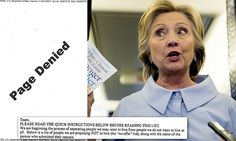 Hillary Clinton's aides circulated a 'no-offer' list in 2009 of people to hire –…