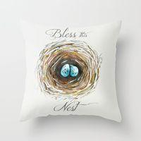 Throw Pillows by Craftberrybush | Society6