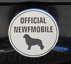 """Official Newfmobile"" Metal Die-Cast Class III Hitch Cover"