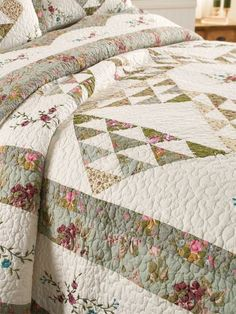 Flower Patch Embroidered Quilt