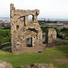 Ruins in Holyrood Park - @Jonathan Nafarrete Fox and I went hiking up here went he came to visit me.