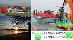 Carnaval e Carnamar em praia de Canto Grande - Bombinhas.