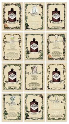 Hendrick's Gin drink Recipies, Gnome Sweet Gnome, FloraDora, Tippling Thyme... Make them ALL
