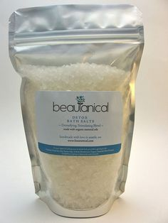 Detox Bath Salts with Organic Essential Oils