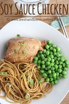 Leesh & Lu's Recipe Box: Soy Sauce Chicken {Electric Skillet, Stove-top or Crock-pot}