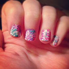 Paint splatter nail art!  #Summer #rainbow #colorful