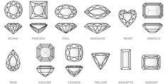 Identify the shape of diamonds in your collection using this helpful guide- sure glad I found this!