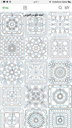 Transcendent Crochet a Solid Granny Square Ideas. Inconceivable Crochet a Solid Granny Square Ideas. Crochet Motif Patterns, Crochet Blocks, Granny Square Crochet Pattern, Crochet Diagram, Crochet Chart, Crochet Squares, Filet Crochet, Crochet Doilies, Crochet Flower