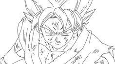 Imgenes de Goku Dios Azul Para Colorear y Dibujar  Visit now for