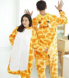 843629660a Cute Cartoon Adult Unicorn Pajamas Set Men and Womens Panda Bear Onesie  Sleepsuit Cosplay Girls Animal Sleepwear Coral Flannel