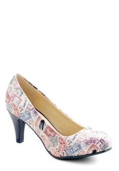 Raise a Post Heel. This item was picked by you in our Be the Buyer Program. #multi #modcloth