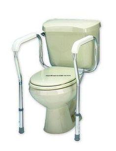 Handicap Portable Toilet Rail Folding Elderly Surround