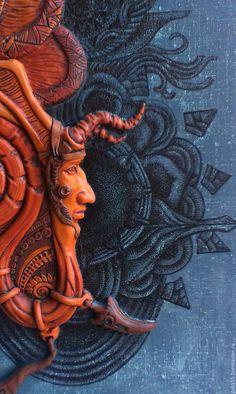 Aztec Warrior, The Time Machine, Clay Faces, Mesoamerican, Metalhead, Pyrography, Dark Art, Wood Art, Illustrators