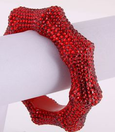 Crystalicious Bamboo Bracelet (Red) - $20.00 : K.I.S.S. Boutique!, Keep It Sweet and Sexy