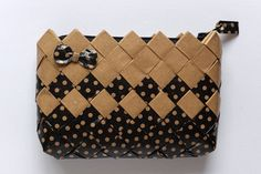 Items similar to Candy Wrapper Bag, handmade clutch bag, vintage bag, coin purse on Etsy Handmade Clutch, Handmade Bags, Handmade Items, Candy Wrapper Purse, Candy Wrappers, Paper Chains, Paper Design, Woven Bags, Clutch Bag
