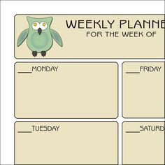 Paper Crafts: Owls Weekly Planner Organization And Management, Classroom Organization, Classroom Management, Free Learning Websites, Weekly Planner, Planner Ideas, School Tips, School Stuff, School Ideas