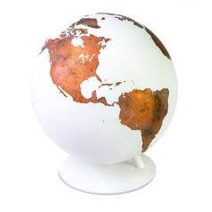 luke calder handcrafts borderless + wordless copper globes