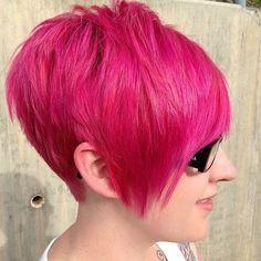 Shocking Pink? Nee…. Deze korte kapsels zijn juist prachtig in roze! - Kapsels voor haar