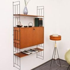 60s wall mounted rack, with secretaire