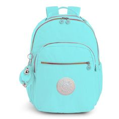 Kipling Seoul Go Large Laptop Backpack (Blue Splash) Kipling Backpack 4c8327041f
