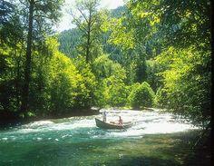Fishing on the beautiful Rogue River