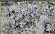 """Asger Jorn ( Danish,1914-1973)."""" Stalingrad,"""" painted in 1957-60, 1967, and completed in 1972. Oil on canvas."""