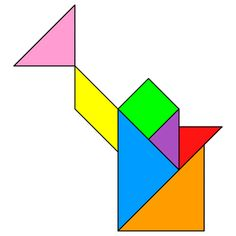Tangram Watering can - Tangram solution #55 - Providing teachers and pupils with tangram puzzle activities