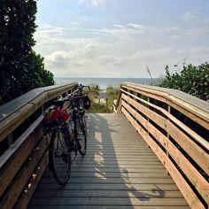 Biking to the beach. #MyIslandTime Hilton Head Island, South Carolina