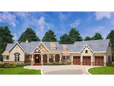 Craftsman Plan with 2531 Square Feet and 3 Bedrooms from Dream Home Source | House Plan Code DHSW077780