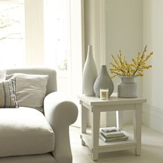 CHALKY BEDSIDE TABLE Similar to tables we've seen in elegant clapboard coastal houses, this version blends in really well with simple surroundings. Goes nicely with our Great White coffee table.