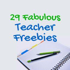 Gotta love teacher freebies!
