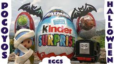 Giant Kinder Surprise Egg Pocoyo Play Doh Halloween Costume Thomas and F... We have a Giant Batman Kinder Surprise Egg along with our first Chuggington Surprise Egg and 3 others for Diesel to pick up and take to Pocoyo who is dressed in his Halloween costume. There are a few Halloween surprises in this. #halloween   #halloweencostume   #pocoyo   #thomas   #batman   #chuggington   #disney   #cars   #cars2   #surpriseegg   #kinder