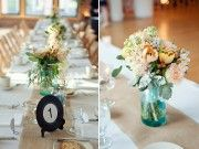centerpieces & table numbers
