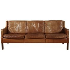Saddle Leather Sofa by Børge Mogensen