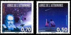 "UNESCO has proclaimed the year 2009 ""International Year of Astronomy"". This year is the 400th anniversary of the first observations made by Galileo with the aid of a telescope. P&TLuxembourg commemorates this event by issuing 2 stamps. #stamps #astronomy #luxembourg http://www.wopa-stamps.com/index.php?controller=country&action=stampRelatedIssue&id=1878"
