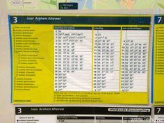 Cestovný poriadok linky 3