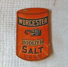 Antique NEEDLE BOOKLET Case Die Cut Worcester