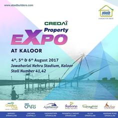Credai Expo 2017 - Abad Builders in Kochi CREDAI Kochi Property 2017 will be held at Jawaharlal Nehru Stadium on Aug 4, 5, 6. Meet Abad Builders team in stall number 41,42 and get to know about our latest projects. Hurry! Its the right time to own your dream home.