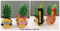 www.bastel-loft.de Ananas-Shadow Box mit Yogurette