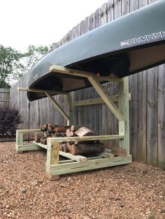 Kayak Storage from other pin, but I like the idea of firewood storage underneath