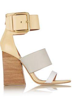 SIGERSON MORRISON Poker color-block leather sandals