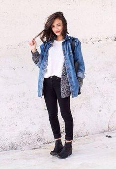 jacket black ankle boots black pants denim jeans oversized denim jacket oversized vintage levi's comfy jeans