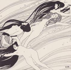 unrecognizedartistinastrangeland:  Gustav Klimt: 'The Blood of Fish, 1898'